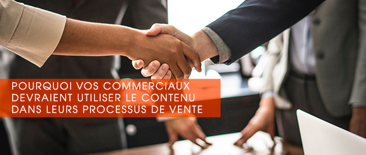 content marketing et vente